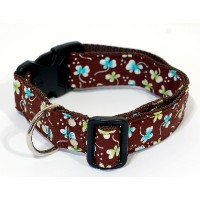 City-Halsband Retro Blumen